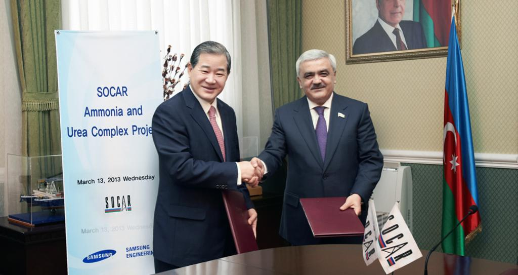 Awarded Ammonia/Urea Project from SOCAR in Azerbaijan